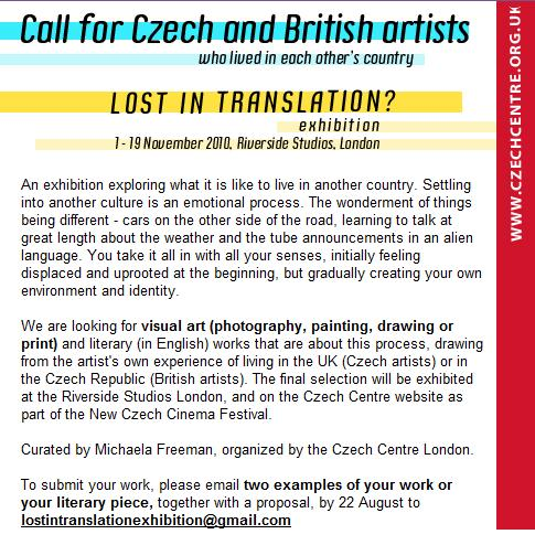 LOST IN TRANSLATION – call for artists – Michaela Freeman